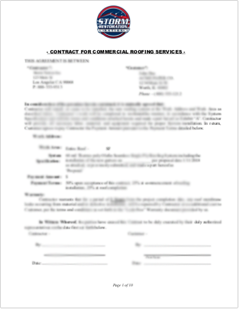 commercial roofing contract